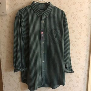 Chaps Striped Button Down-New